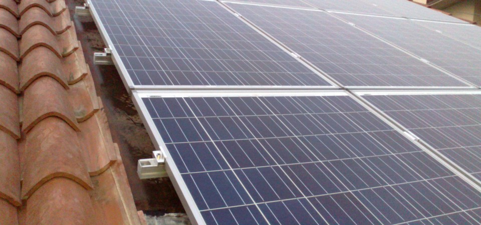 Immagine di un impianto fotovoltaico da 3kw con pannelli solarworld