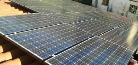 immagine di un Impianto fotovoltaico con Pannelli sanyo